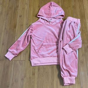 Kids Tales Velvet Hooded Tracksuit Top + Pants 3-4
